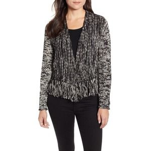 Nic + Zoe Fringe Worthy Marled Knit Jacket Medium